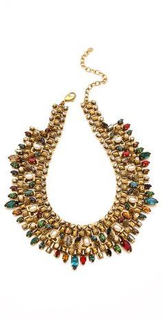 the bead work is beautiful...Erickson Beamon Matador Necklace via shopbop