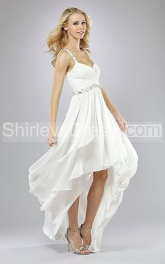 country hi low wedding dress   ... Country Wedding Dresses > Shimmering Sleeveless Bodice High-low