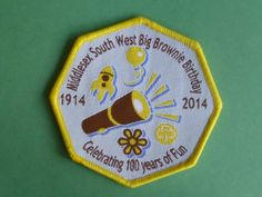 Girlguides Middlesex South West  Big Brownie Birthday Badge