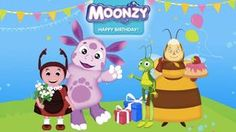 Moonzy. Happy birthday! - Gameplay (Game for kids)Luntik Colors for Kids to Learn with Luntik - Colours for Children