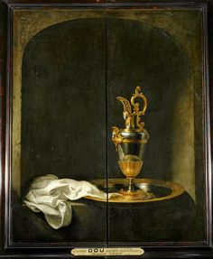 Page of The Silver Ewer by DOU, Gerrit in the Web Gallery of Art, a searchable image collection and database of European painting, sculpture and architecture Dutch Still Life, Still Life Art, European Paintings, Old Paintings, Rembrandt, Gerrit Dou, Dutch Golden Age, Web Gallery, Louvre