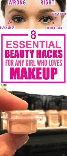 These 8 brilliant beauty hacks are SO GOOD! I'm so glad I found this AMAZING post! These have definitely saved me time AND money! I'm DEFINITELY pinning for later!