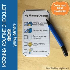 Morning Routine Checklist for Young Learners Amy Murray - Teaching Exceptional Kinders Classroom Morning Routine, Morning Routine School, Classroom Routines, Classroom Decor, Teaching Special Education, Teaching Tools, Teacher Resources, Teaching Ideas, Morning Routine Checklist