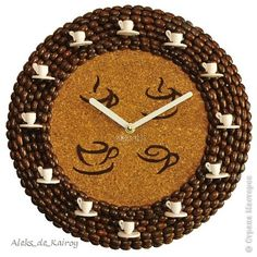 Rope Crafts, Easy Crafts, Diy And Crafts, Arts And Crafts, Coffee Clock, Coffee Bean Art, Great Grandma Gifts, African Crafts, Coffee Crafts