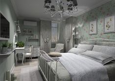 спальня в стиле прованс . Спальня