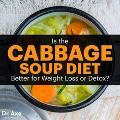 The Cabbage Soup Diet: Does it work and is it safe The cabbage soup diet is a nice short-term diet to lose weight and detox the body. But which is a better reason to try the cabbage soup diet — weight loss or detox? Quick Weight Loss Tips, Best Weight Loss, How To Lose Weight Fast, Lose Fat, Weight Loss Soup, Diet Tips, Diet Recipes, Recipies, Healthy Recipes