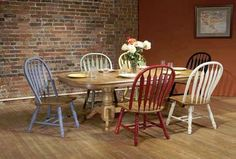 With our versatile Spectra Dining set, you can choose a single chair color or mix-n-match - the choice is yours!  Available at Just Cabinets Furniture & More and online at JustCabinets.com