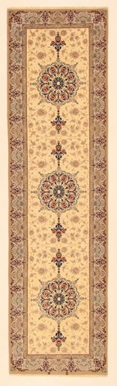 Perserteppich Isfahan a.Seide hell (86x318cm)