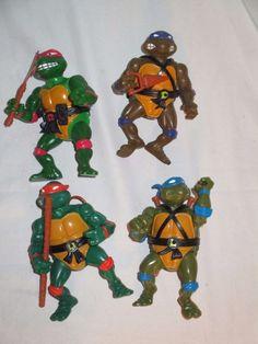 Vintage Teenage Mutant Hero Turtles Action Figures.1989 (ninja). All 4 turtles.  | eBay