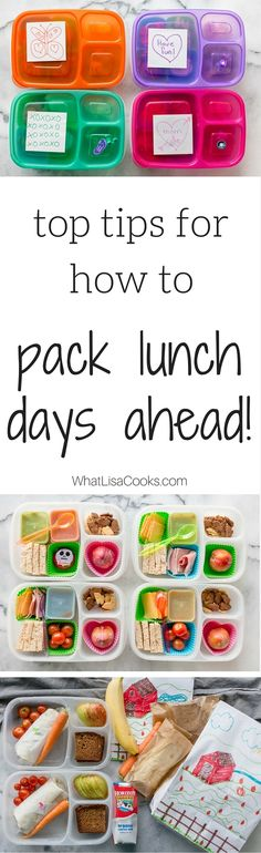 With these great tips and tricks, you can pack lunch days in advance and save yourself tons of time! from @whatlisacooks