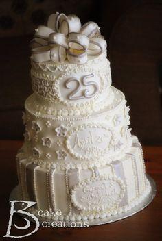 Jaybird Creations: Cake Decorating - 25th Silver Anniversary