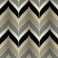 Gatsby Wallpaper in Black, Silver, and Taupe design by York Wallcoverings