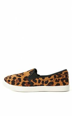 Bamboo Easy-01 Suede Leopard Loafers TAN