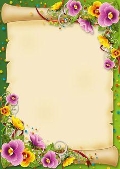clipart flower borders and frames Frame Border Design, Boarder Designs, Page Borders Design, Frame Background, Paper Background, Printable Border, Free Printable, School Border, Boarders And Frames