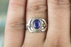 Silver Rings – Blue Lapis Lazuli Ring, Handmade Silver Ring – a unique product by ArtisanJewellery on DaWanda