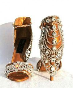 ca394e973d913c Leathrt jeweled sandals  shoes  JenniferW Kitten Heels