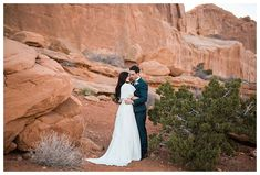 Unique Location Ideas for Bridal Photos in Utah | Latter Day Bride Blog | Arches National Park is a unique location idea for bridal photos in Utah