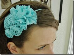 I showed you my Easter dress  a little while back. In the pictures, I was wearing a turquoise rosette headband from my shop . Of course (and...
