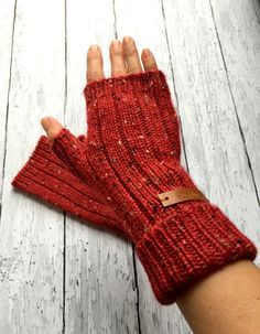 Fingerless Mittens Wool Mittens Womens Mitts by ussuriknits