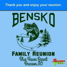 Bensko Family Reunion, Fishing on lake design #reuniontees #ctp365 #reuniontshirts #familyreuniontshirts