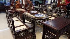 Bàn Ghế Trường Kỷ Ngũ Sơn Khảm Đẹp Poker Table, Furniture, Home Decor, Decoration Home, Room Decor, Home Furnishings, Home Interior Design, Home Decoration, Interior Design