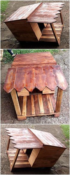 wooden pallets made dog house