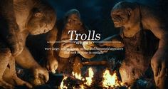 Creatures of Middle-earth: Trolls
