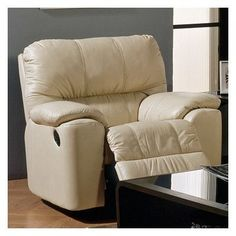 Palliser Furniture Picard Rocker Recliner Upholstery: Leather/PVC Match - Tulsa II Chalk, Leather Type: All Leather Protected, Type: Manual