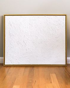 canvas art It never occurred to me until recently that I could achieve the same look of textured art without the hefty price tag of buying original textured art. White Canvas Art, Textured Canvas Art, Large Canvas Art, Diy Canvas Art, Abstract Canvas, White Art, Painting Abstract, Diy Abstract Art, White Framed Art