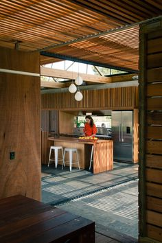 Bramasole House was completed in 2016 by New Zealand studio Herbst Architects. The house is located in Waimauku, Auckland, New Zealand. Interior Architecture, Interior And Exterior, Interior Design, Home Design Diy, House Design, Steel Framing, Timber Planks, Modern Rustic Homes, Outdoor Rooms