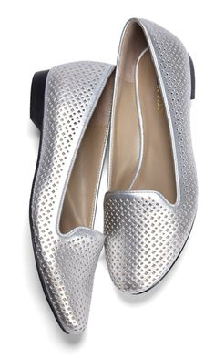 sweet metallic flats at Sole Society