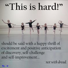 (for the ballet student) This is Hard!