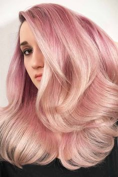Soft Pink Balayage With Wheat Hues #pinkhair #balayage ❤️ Want to get pastel pink hair? Rose ombre with dark roots, perfect pink highlights for blonde hair, and many ideas for short and long hair are here! ❤️ See more: http://lovehairstyles.com/pastel-pink-hair-shades/ #lovehairstyles #hair #hairstyles #haircuts