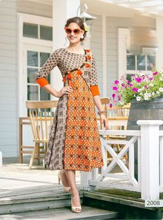we deal with collection of Salwar Suits, Designer Sarees ,Lehenga, Bridal Wears, Designer Kurtis at awesome price and finest Quality. Printed Kurti Designs, Kurti Neck Designs, Kurta Designs Women, Kurti Designs Party Wear, Salwar Designs, Dress Designs, Kurti Patterns, Dress Patterns, Stylish Kurtis Design