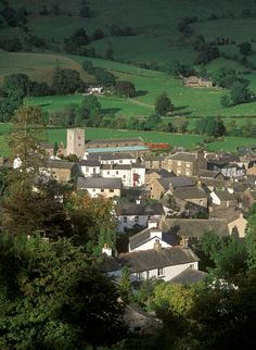 Dent Village nestling in the Yorkshire Dales, England, UK