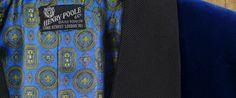 1960s Henry Poole Savile Row Bespoke silk-velvet smoking jacket