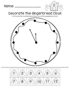 Decorate the Gingerbread Clock FREEbie!  Visit www.littlelearninglane.com for more fun ideas & FREE printables!