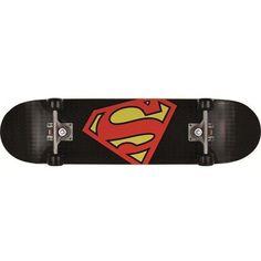 Skateboard kinderen Superman Superlogo ❤ liked on Polyvore featuring skateboards, accessories, skate, random and fillers