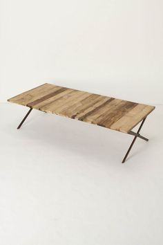 Plank house coffee table from Anthropologie