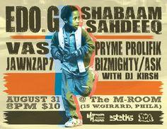 (August 31) EDO G, SHABAAM SAHDEEQ , BIZ MIGHTY, PRYME PROLIFIK AND MORE