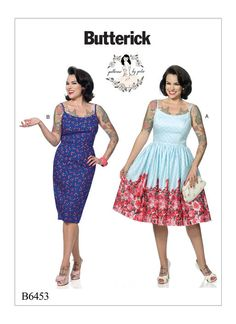 Gertie for Butterick dress sewing pattern. B6453 Misses' Princess Seam Dresses with Straight or Gathered Skirt