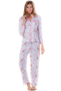 Casual Nights Women's Long Sleeve Striped Lace Trim Pajama Set >>> Hurry! Check out this great product : Plus size tops
