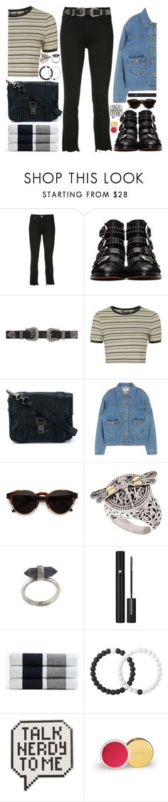 """""""Let's give this towel the best day of it's life"""" by carolsposito on Polyvore featuring Paige Denim, Givenchy, B-Low the Belt, Topshop, Proenza Schouler, RetroSuperFuture, Phillip Gavriel, Karen Kane, Lancôme and James Perse"""