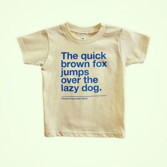 Good news, tiny type geeks: all sold out Helvetica Neue Bold kids t-shirts are now available again at tinymodernism.com.