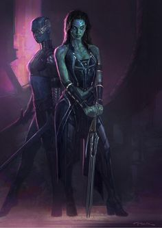 Gamora and Nebula Concept Art for Guardians of the Galaxy
