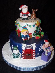 Coolest Christmas Scene Cake ... This website is the Pinterest of birthday cakes