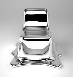Philipp Aduatz' intention in the design of the Melting Chair is to capture a transient transformation within a sculptural object. The Melting Chair, which is suitable for use, is carefully crafted to appear to the vi. Design Furniture, Luxury Furniture, Chair Design, Modern Furniture, Glass Furniture, Furniture Market, Furniture Chairs, House Furniture, Muebles Art Deco