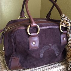 """ANTONIO MELANI HANDBAG Beautiful... Rich brown suede. Zippered pocket inside and 2 slip pockets. 11"""" across X 8"""" down 4"""" wide sides and bottom. Fabulous condition.  Please check dimensions...Questions embraced PLEASE CHECK THE DIMENSIONS AND IF YOU HAVE ANY QUESTIONS PLEASE ASK ❤️ ANTONIO MELANI Bags"""