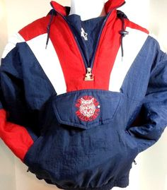 #UofA #ArizonaWildcats #Starter 1/2 Zip Pullover Coat Jacket Size Large Navy Red #Starter #ArizonaWildcats #NCAA #PAC12