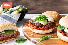 Margherita Burger - with Lemony Zucchini Fries